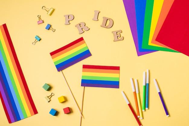 Accesorios del concepto de orgullo gay