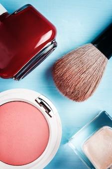 Accesorios cosméticos, vista superior
