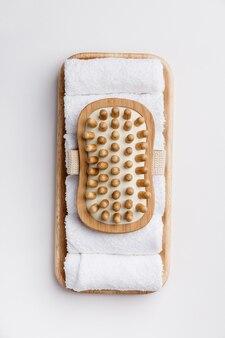 Accesorios de spa. concepto de estilo de vida saludable. belleza, cuidado de la piel