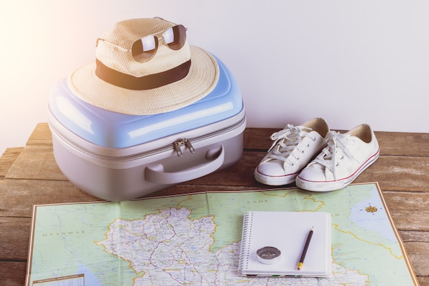 Accesorios de viaje para el viaje.