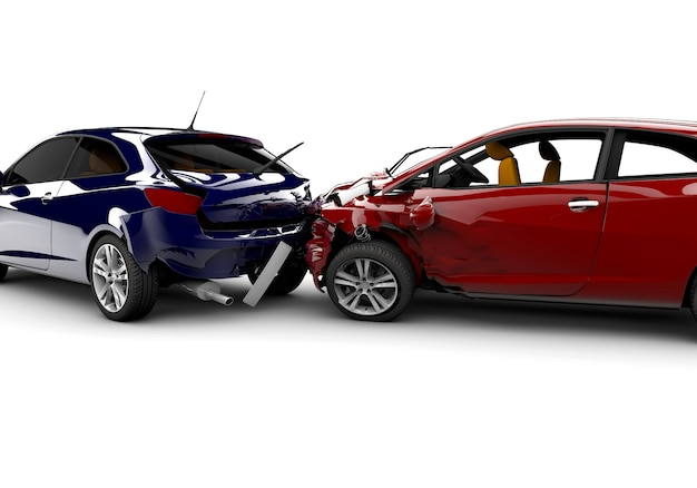 Accidente con dos coches.