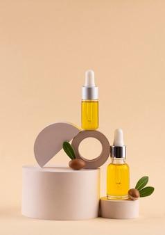 Aceite de argán en disposición de frasco gotero