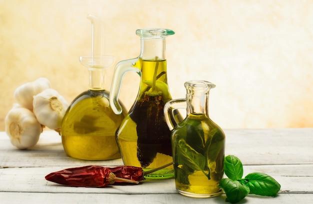 Aceite aromatizado con hierbas y especias