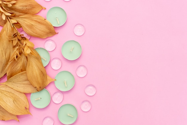 Aceite esencial para aromaterapia, flores, jabón hecho a mano, sal del himalaya.
