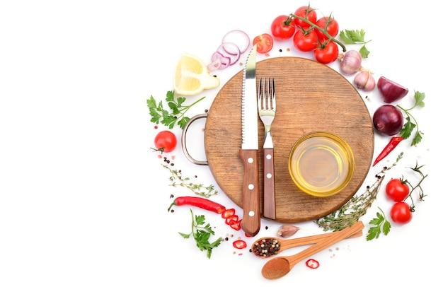 Aceite de oliva con especias y verduras