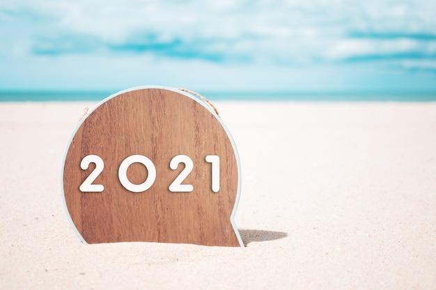 Se acerca el año nuevo 2021, el concepto de idea de inspiración creativa.