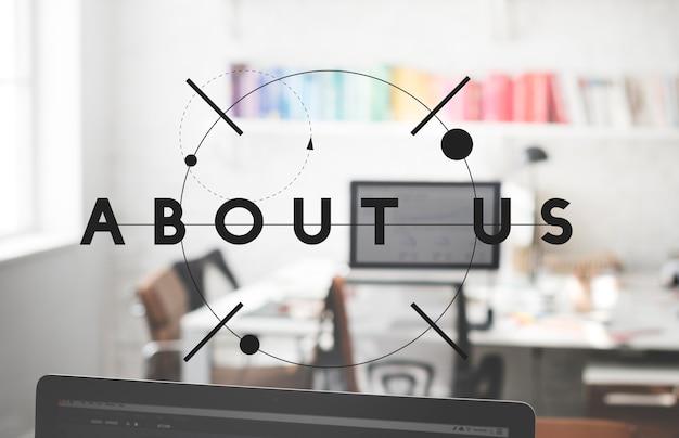 Acerca de nosotros concepto de unión de servicio de información compartida