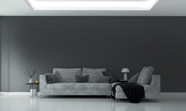 Acogedor diseño moderno del interior de la sala de estar