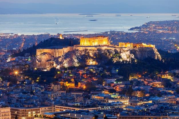 Acrópolis ateniense en grecia