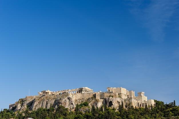 Acrópolis colina durante el día