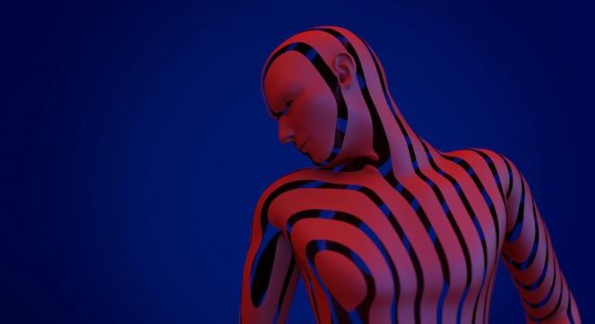 Actitud humana de la situación humana del modelo del fondo del retrato de la moda
