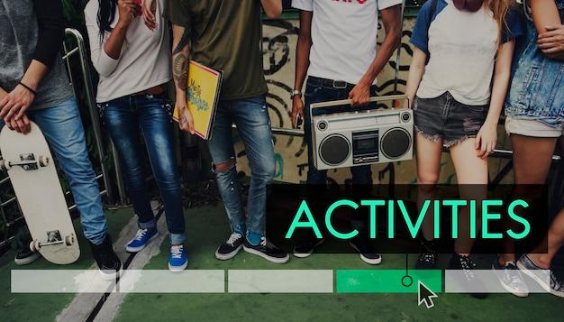 Actividades hipster inspirar icono de inspiración