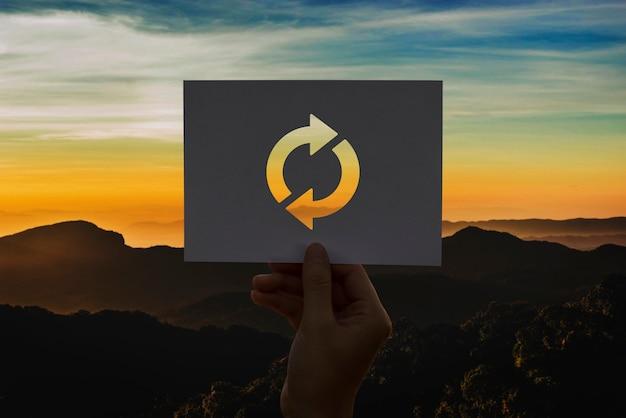 Actualizar icono recargar papel perforado