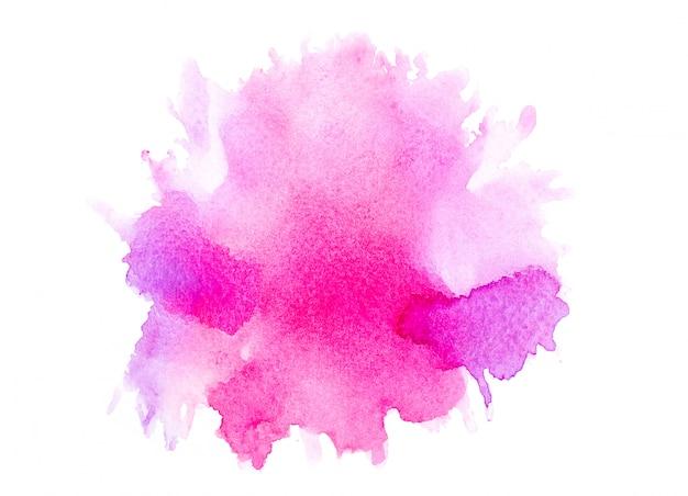 Acuarela abstracta de color rosa.