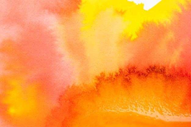 Acuarela abstracta creativa pintura de colores cálidos.