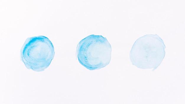 Acuarela abstracta de formas de luna azul