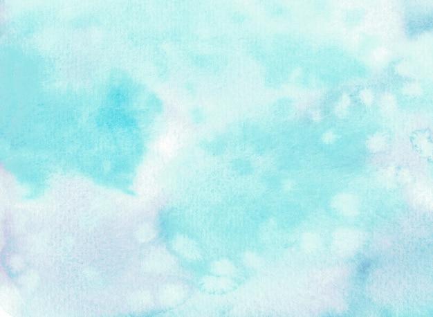 Acuarela azul claro. dibujado a mano ilustración de cielo o nieve.
