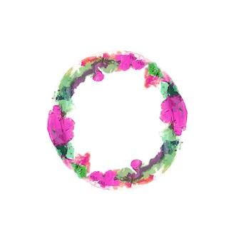 Acuarela de colores con copyspace