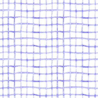 Acuarela de patrones sin fisuras con líneas azules dibujadas a mano