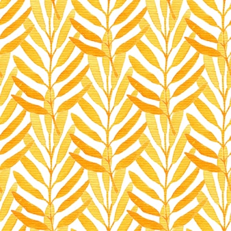 Acuarela de patrones sin fisuras naranja.