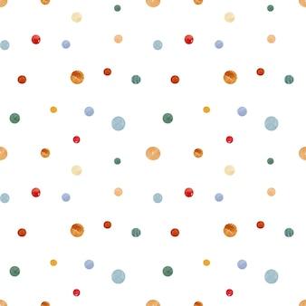Acuarela de patrones sin fisuras de navidad con puntos de dibujo a mano