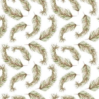 Acuarela de patrones sin fisuras de plantas tropicales exóticas de hojas de palma verde. fondo de hawaii