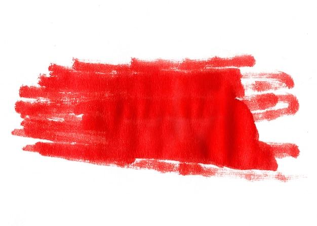 Acuarela roja abstracta sobre fondo blanco
