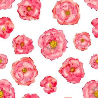 Acuarela rosa de patrones sin fisuras