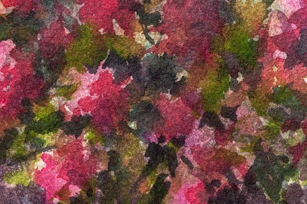 Acuarela sobre lienzo con patrón de flores de color púrpura