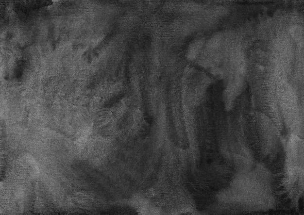 Acuarela textura de fondo negro y gris pintado a mano