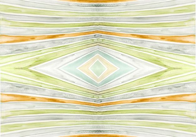 Acuarela textura rayada simétrica creativa. fondo colorido pintado a mano artístico.
