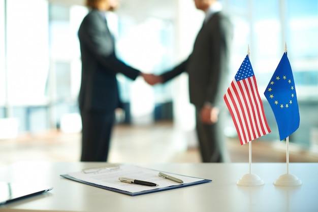 Acuerdo de hombres de negocios