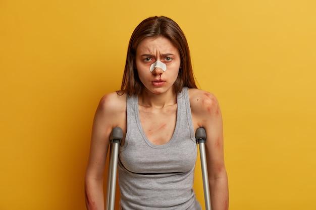 Adolescente herido tiene varios hematomas, hematoma tras accidente