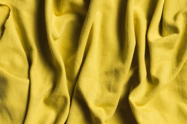 Adorno amarillo interior material de tela de decoración