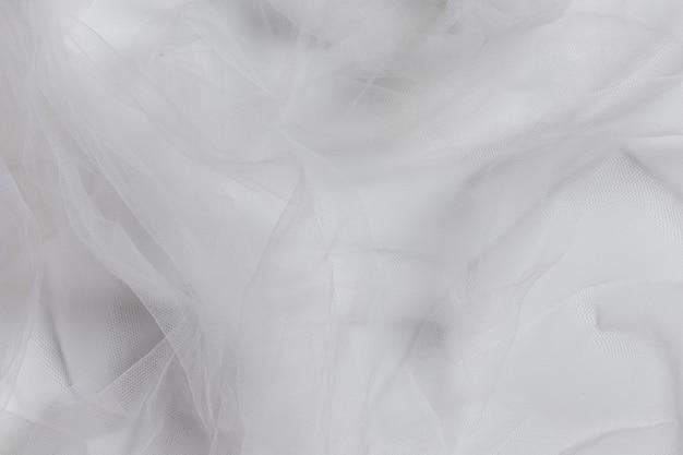 Adorno blanco interior material de tela de decoración