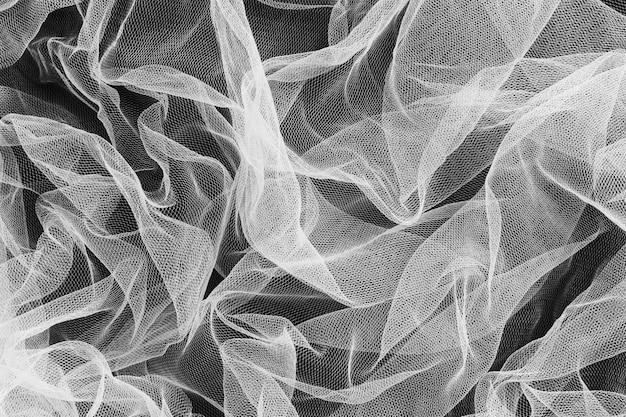 Adorno gris y transparente interior material de tela de decoración