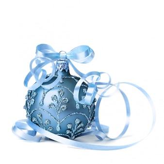 Adorno navideño azul oscuro