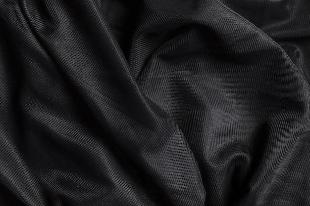 Adorno negro en interiores decoración material de tela