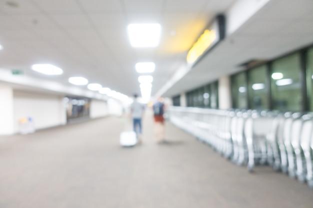 Aeropuerto borroso abstracto