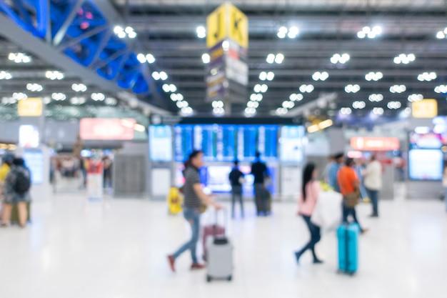 Aeropuerto internacional borroso