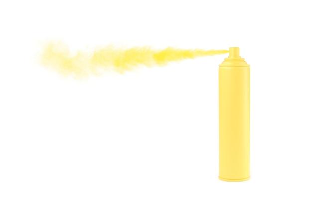 Aerosol puede color amarillo pastel