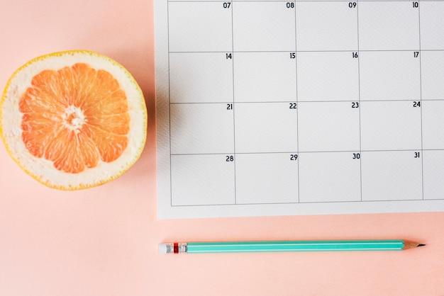 Agenda de agenda de calendario planificador de agenda