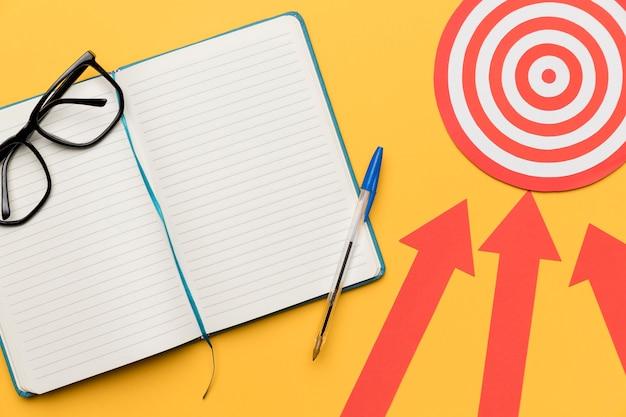 Agenda plana con ideas