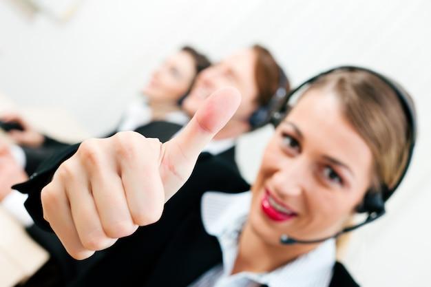 Agentes del centro de llamadas