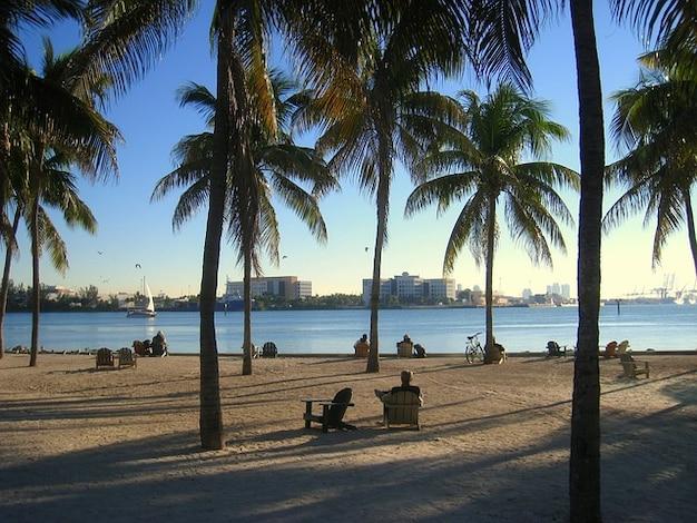 Agua horizonte mar miami beach florida
