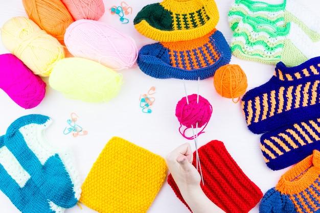 Agujas de tejer calcetines de niña