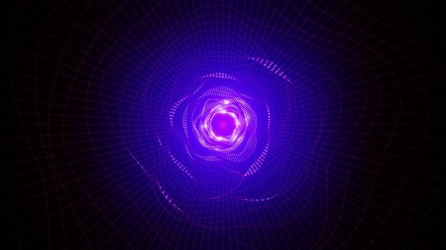Agujero del túnel de bucle. warp en la ciencia ficción agujero vórtice túnel hiperespacio. render 3d