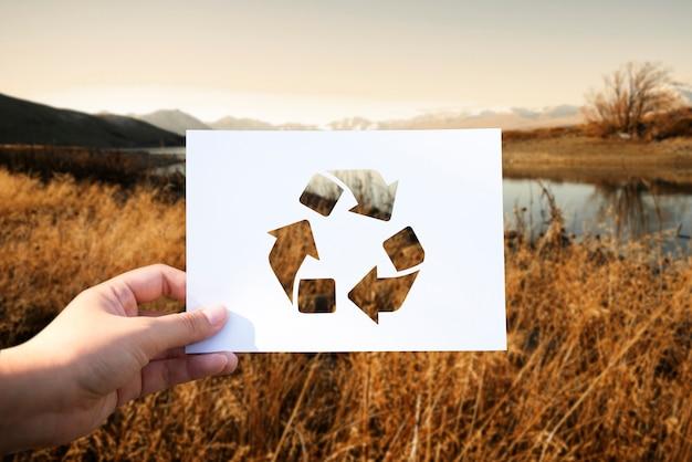 Ahorre el mundo ecología conservación del medio ambiente papel perforado reciclar