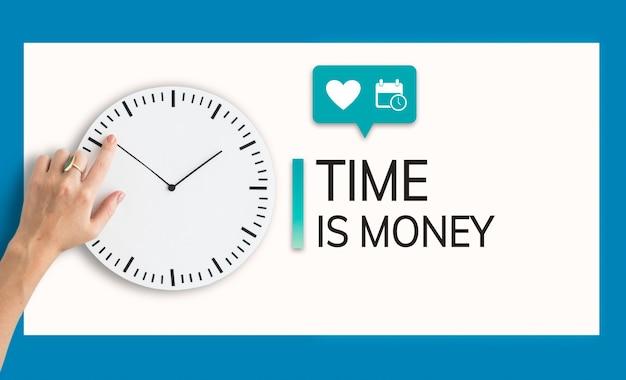 Ahorre tiempo ahorre dinero concepto