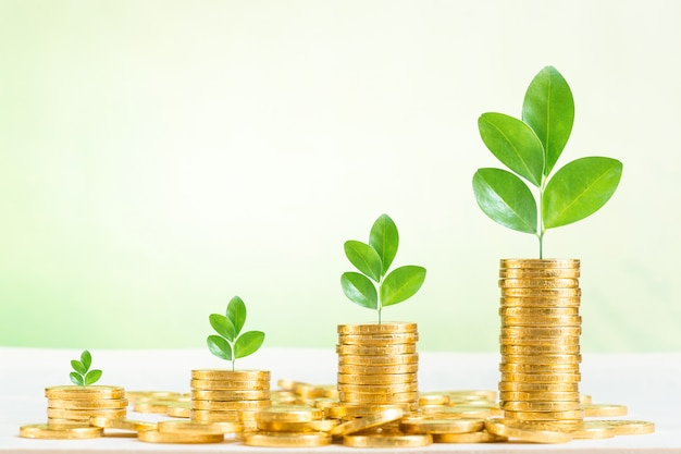 Ahorro, negocio crecer concepto de fondo
